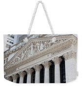 New York Stock Exchange I Weekender Tote Bag by Clarence Holmes