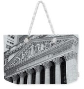 New York Stock Exchange II Weekender Tote Bag by Clarence Holmes