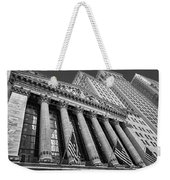 New York Stock Exchange Wall Street Nyse Bw Weekender Tote Bag