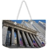 New York Stock Exchange Wall Street Nyse  Weekender Tote Bag
