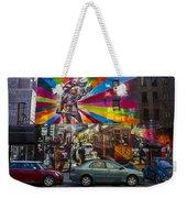 New York Street Scene Weekender Tote Bag