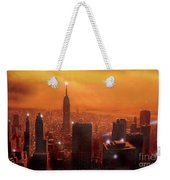 New York Sunset Weekender Tote Bag
