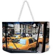 New York Taxi Cabs Weekender Tote Bag