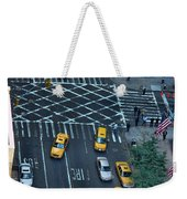 New York Taxi Rush Hour Weekender Tote Bag