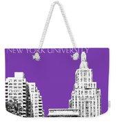 New York University - Washington Square Park - Purple Weekender Tote Bag