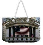 New York - Wall Street Panoramic Weekender Tote Bag