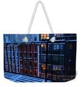 New York Window - Fire Escape In Winter Weekender Tote Bag