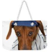 New York Yankee Hotdog Weekender Tote Bag