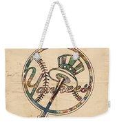 New York Yankees Poster Vintage Weekender Tote Bag