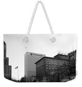 Newark  New Jersey In Black And White Weekender Tote Bag