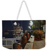 Newburyport Docks Full Moon Weekender Tote Bag
