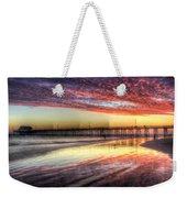 Newport Beach Pier Sunset Weekender Tote Bag