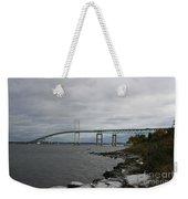 Newport Bridge  -  Rhode Island Weekender Tote Bag