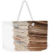 Newspaper Stack Weekender Tote Bag