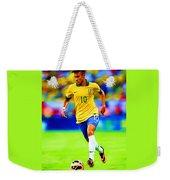 Neymar Soccer Football Art Portrait Painting Weekender Tote Bag