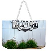 Nfl Hall Of Fame Weekender Tote Bag by Frozen in Time Fine Art Photography