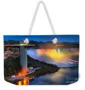 Niagara American Falls At Night Weekender Tote Bag