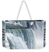 Niagara Falls American Side Closeup With Warp Frame Weekender Tote Bag