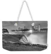 Niagara Falls Black And White Starbursts Weekender Tote Bag