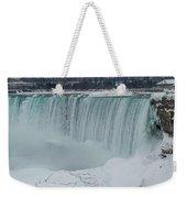 Niagara Falls Canada In Winter Weekender Tote Bag