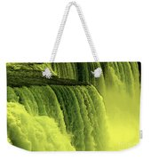 Niagara Falls Closeup Hot Wax Effect Weekender Tote Bag