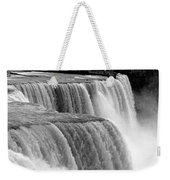 Niagara Falls In Black And White Weekender Tote Bag
