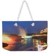 Niagara Falls Night Lights Panorama Weekender Tote Bag