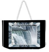 Niagara Falls Seas And Rivers Bless The Lord Praise And Exalt Him Above All Forever Weekender Tote Bag