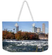 Niagara Falls Skyline From New York Weekender Tote Bag