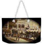 Niagra Carting Wagon Extras The Great White Hope Set Globe Arizona 1969-2014 Weekender Tote Bag