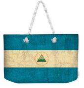 Nicaragua Flag Vintage Distressed Finish Weekender Tote Bag