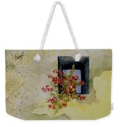 Niche With Flowers Weekender Tote Bag