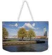 Nieuwe Maas River Waterfront In Rotterdam Weekender Tote Bag