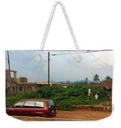 Nigerian Mountains In The Distance Weekender Tote Bag
