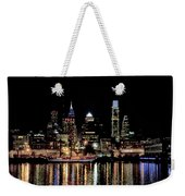 Night At Penn's Landing - Philadelphia Weekender Tote Bag