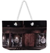 Night At The Durango Roundhouse Weekender Tote Bag