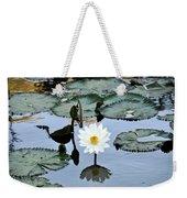 #night Blooming Water Lily Weekender Tote Bag