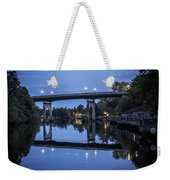 Night Bridge Weekender Tote Bag