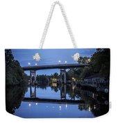 Night Bridge Weekender Tote Bag by Nelson Watkins