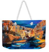 Night Colors Over Riomaggiore - Cinque Terre Weekender Tote Bag by Elise Palmigiani