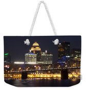 Night Descends Over Louisville City Weekender Tote Bag