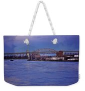 Night Descends Over The Triboro Bridge - Nyc Weekender Tote Bag