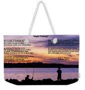 Night Fishing - Poem Weekender Tote Bag