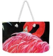 Night Flamingo Weekender Tote Bag