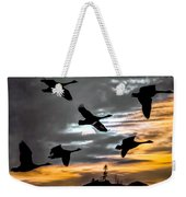 Night Flight Weekender Tote Bag by Bob Orsillo