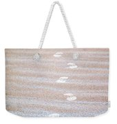 Night Beach Sand Footprints Weekender Tote Bag