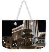 Night Glow At The Venetian Las Vegas Weekender Tote Bag