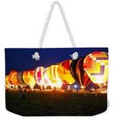 Night Glow Hot Air Balloons Weekender Tote Bag