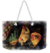 Night Glowing Hot Air Balloons Photo Art Weekender Tote Bag