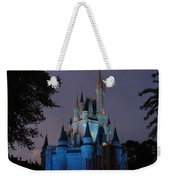 Night Illuminates Cinderella Castle Weekender Tote Bag